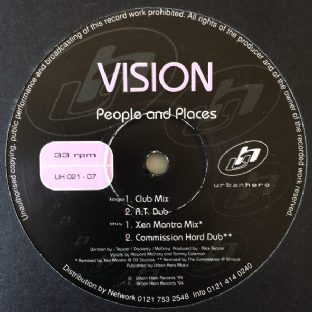 "Vision ‎- People And Places (12"") (VG+/G++)"